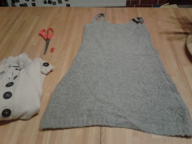 Egy gyapjúruha és egy öreg pulcsi a kiindulási alap