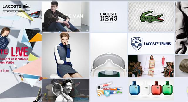 A Lacoste főoldalán rengeteg információval találkozni a márkát illetően.