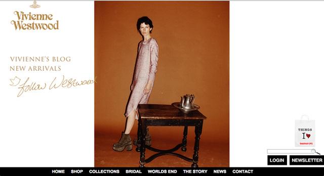 Vivienne Westwood oldalán egy nemesi családból származó modell, Stella Tennant áll.