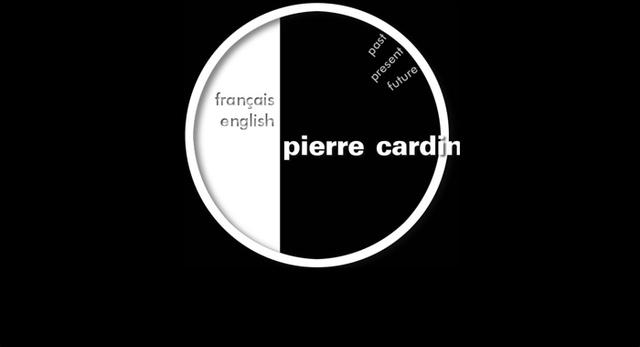 Pierre Cardin egy egyszerű, könnyen kezelhető, fekete-fehér oldalt készített a márkának.