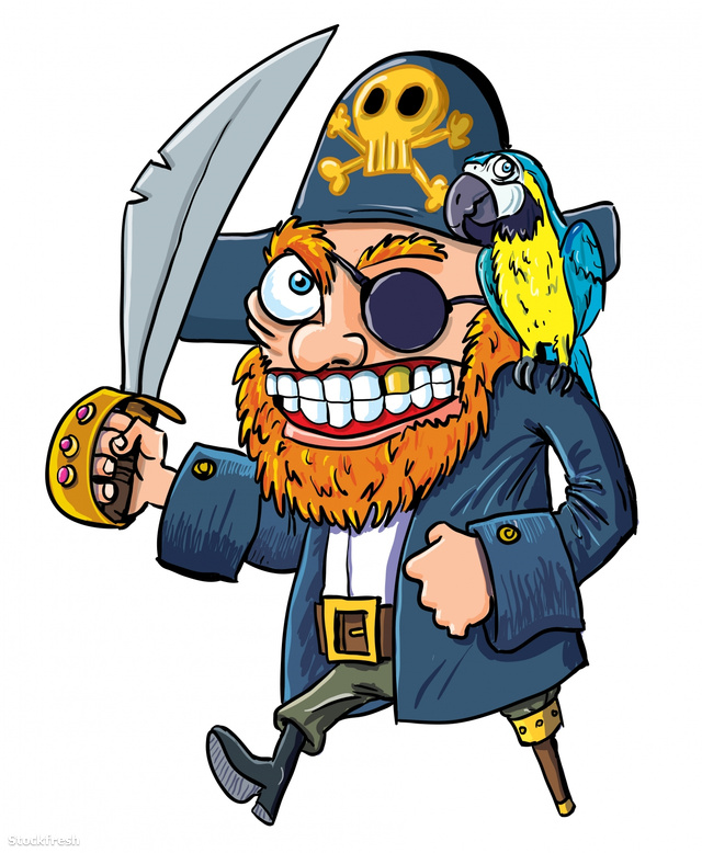 stockfresh 1823385 cartoon-pirate-with-a-cutlass-and-parrot size