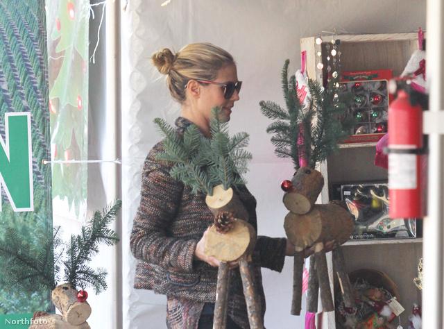 Heidi Klum adventi díszítéseket készít a gyerekeivel