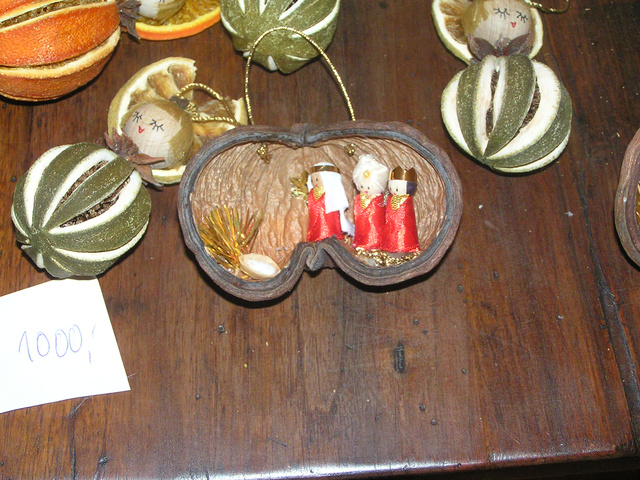 Karácsonyfa dísz szárított gyümölcsökből
