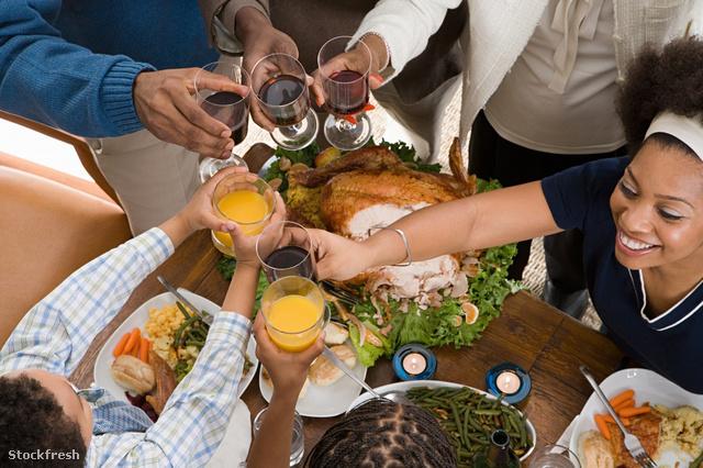 stockfresh 1373350 family-toasting-at-christmas-dinner sizeM