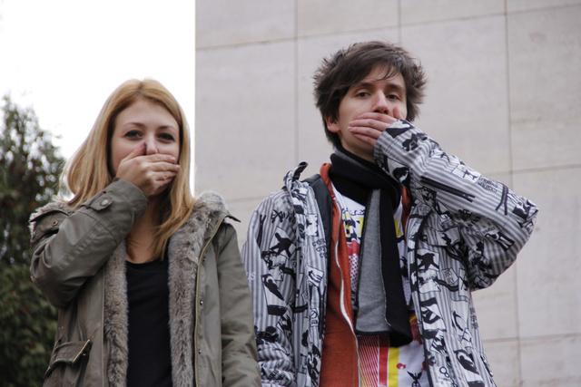 A csend hangja diáktüntetés a Lauder előtt