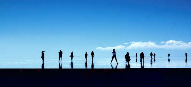 Salar de Uyuni nedves időszakban