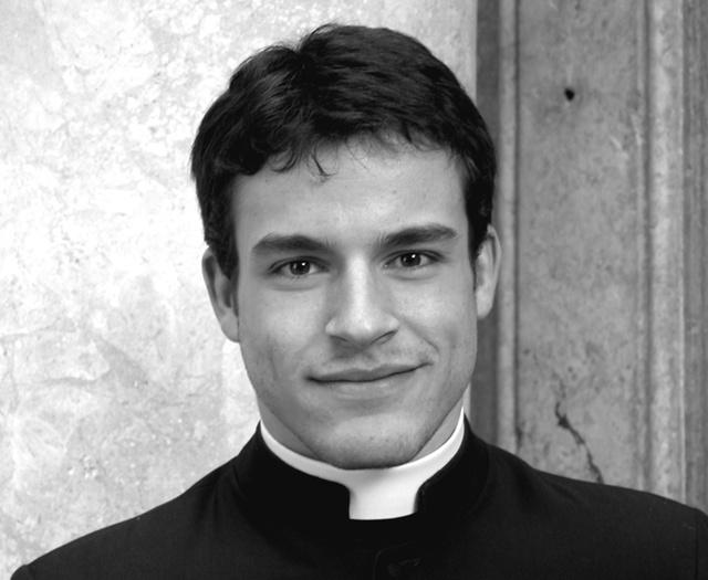 Egy jóképű pap a Calendario Romanóból