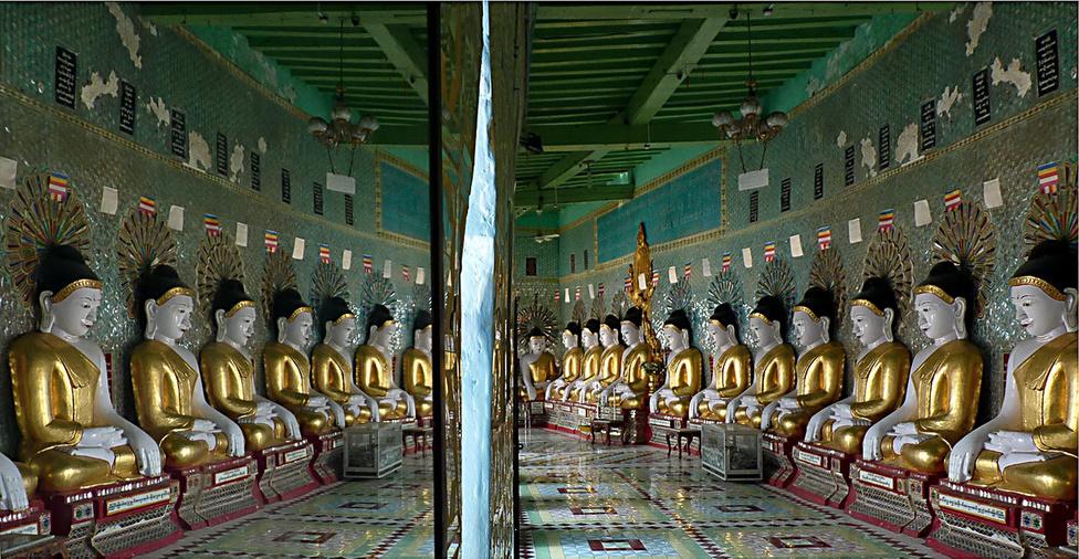 Tükörvilág. A brit gyarmati uralom után önállóvá vált Burma a függetlenség elnyerésekor a délkelet-ázsiai régió egyik leggazdagabb országa volt. Az öt évtizedes katonai uralom elszigetelődést, elszegényedést, és az állampolgári jogok korlátozását hozta. A nehéz időkben fokozott szerep hárult a vallásra – a burmaiak aktív vallásos életet élnek, a szent helyeket rendszeresen látogatják, és ezek többségét kiváló állapotban tartják.
