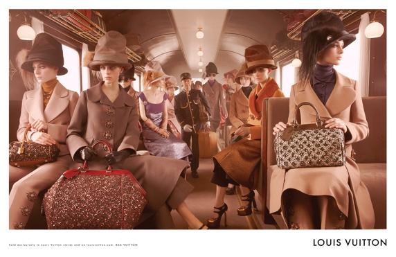 Vonatozás a Louis Vuittonnal.