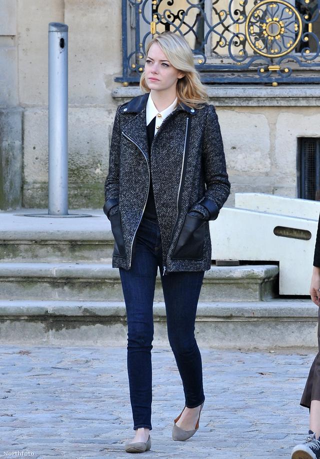 Emma Stone hétköznapi stílusú szerelésben ment szemügyre venni a párizsi Rodin Museumot