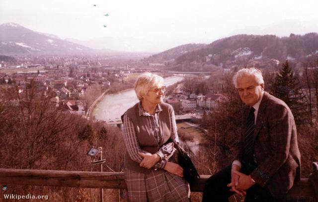 Rácz Vali és Halász Péter a 90-es években