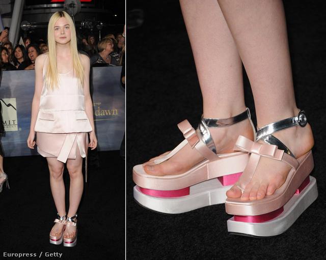 Elle Fanning telitalpú cipőben jelent meg egy filmbemutatón Los Angelesben