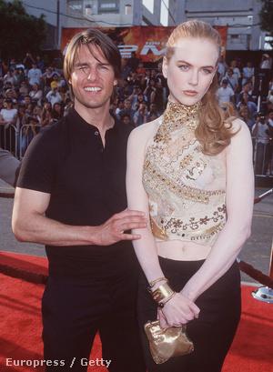 Tom Cruise és a falfehér Nicole Kidman 2002-ben