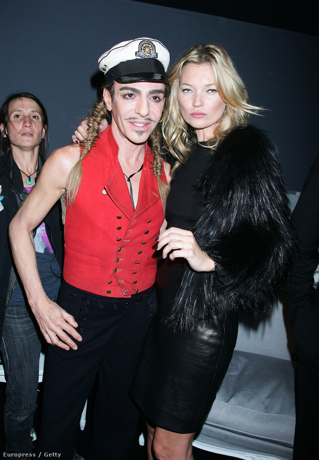 John Galliano és Kate Moss