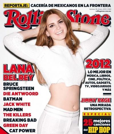 Lana Del Rey nevetgélős címlapja hasvillantással