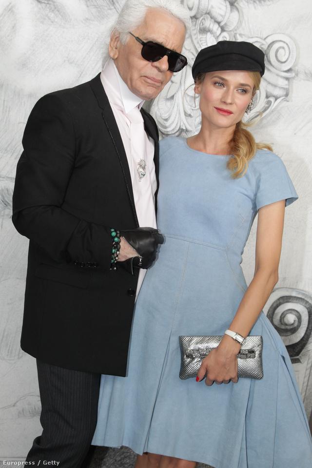 Diane Kruger és Karl Lagerfeld