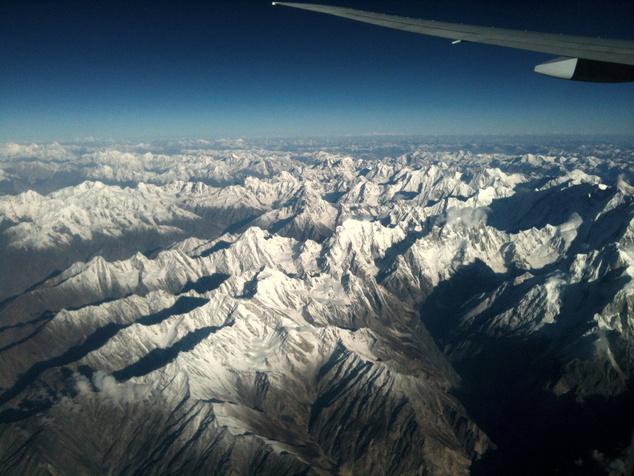 A Karakorum csúcsai úton Szöul felé.