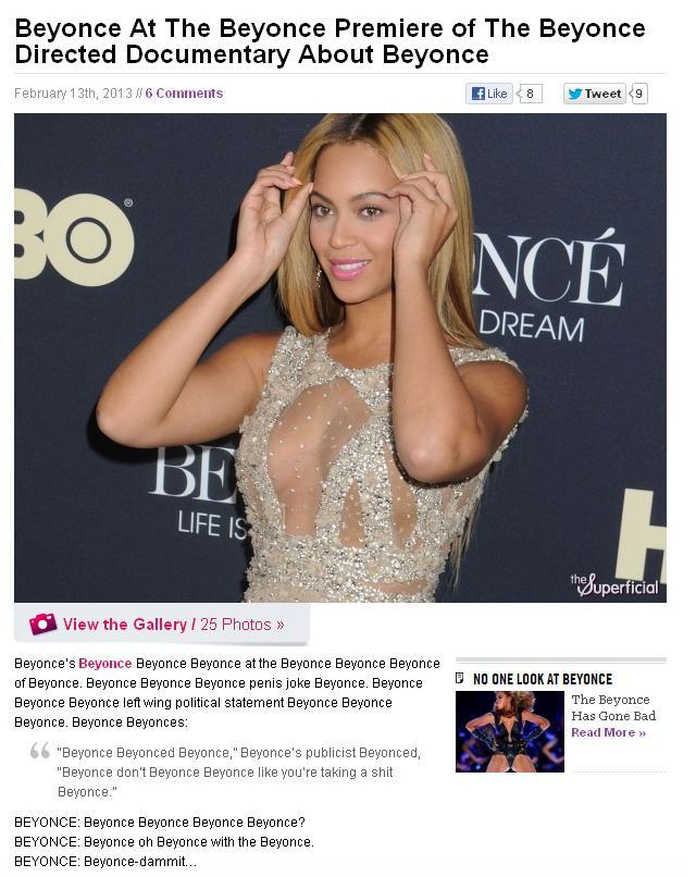 Beyoncé Beyoncé Beyoncé