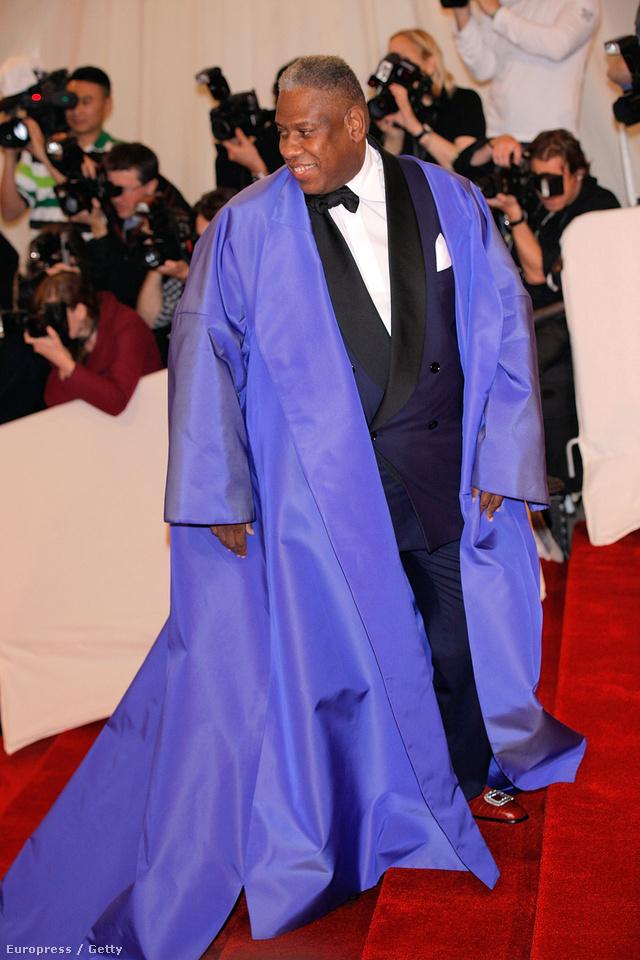 André Leon Talley-t, az amerikai Vogue szerkesztőjét nem érdekli, ha nagyobbnak tűnik. Ő megteheti.