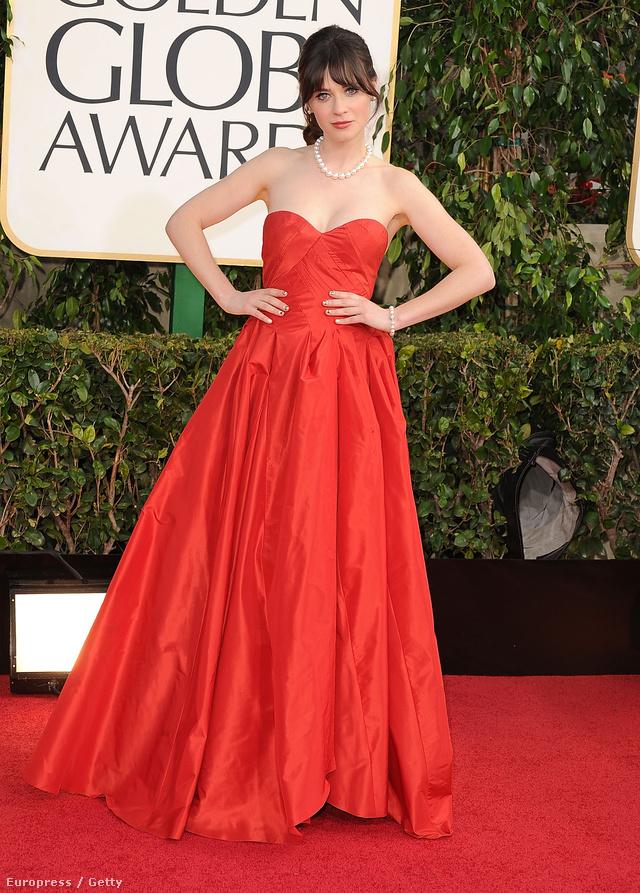 Az idei Golden Globe-on vörös estélyiben gálázott.