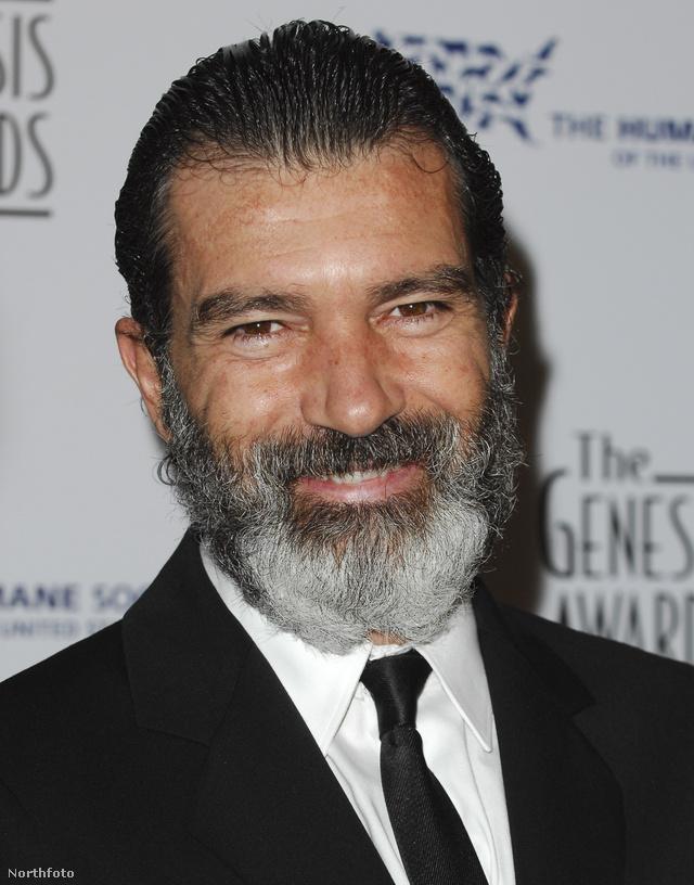 Amúgy sem fiatal már annyira Antonio Banderas, a szakáll plusz tíz évet még dob rajta.