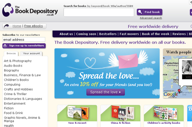book depository screenshot