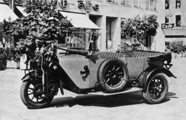 Olcsó járműveknél gyakran alkalmaztak három kereket, mint a Phänomen autón is