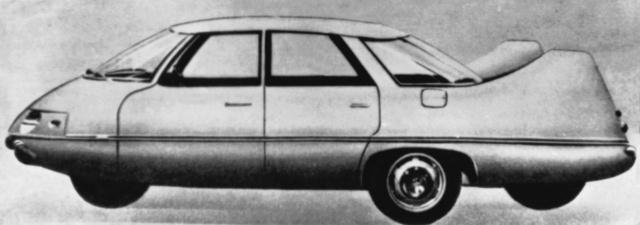 Deltoid formájú négykerekes elrendezés                          a Pininfarina X-en, 1960-ból