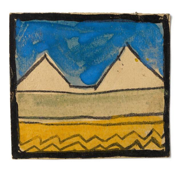 A tárlat egyik szenzációja Egon Schiele alig ismert faldekoráció-terve