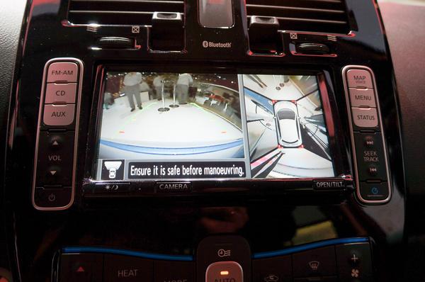 180 fokos tolatókamera, 360 fokos körülnézeti kamera
