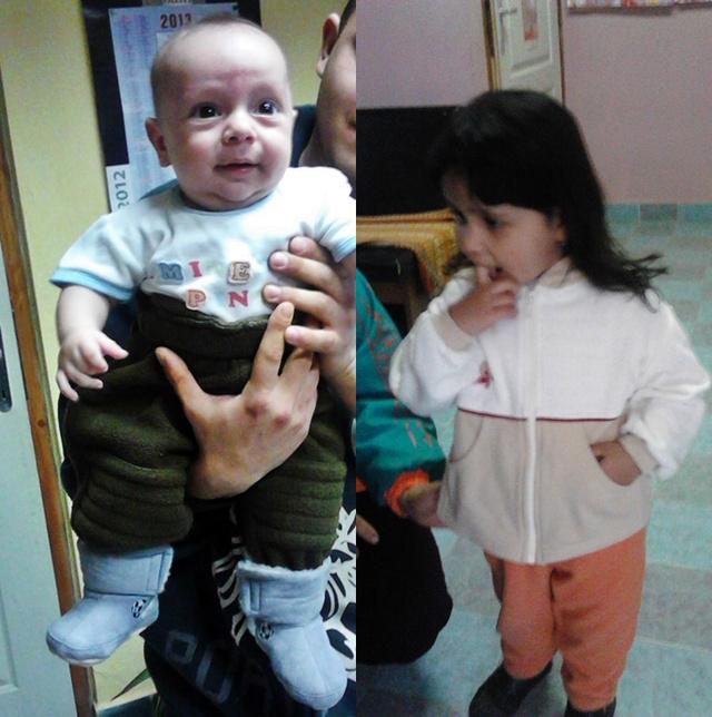 Beni az ajándék csizmácskában, Johi az ajándék pulcsiban. A képek közlésére engedélyt kaptunk
