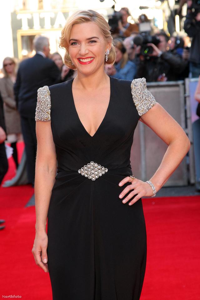 Kate Winslet a Titanic 3D-s premierjén Londonban.