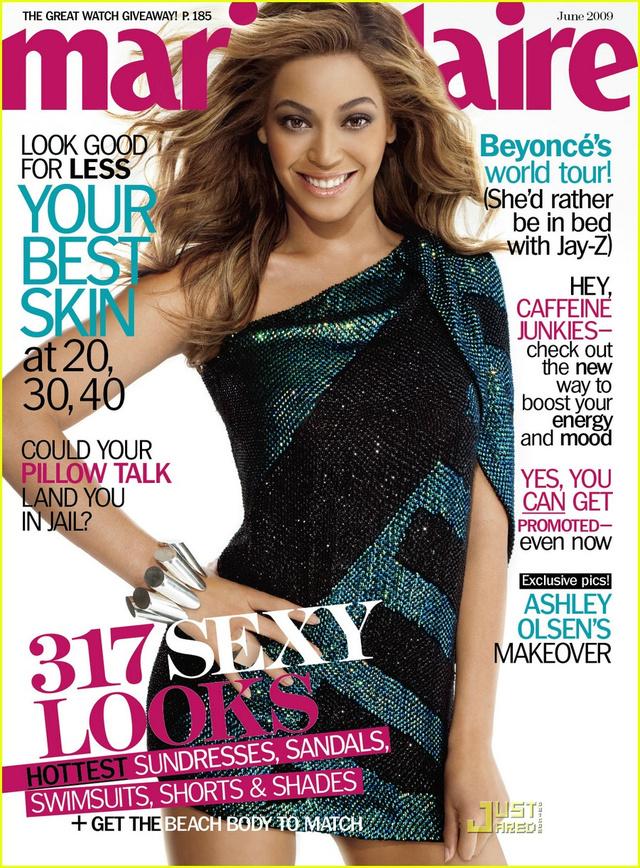 Beyoncé erőltetetten mosolyog a Marie Claire borítóján