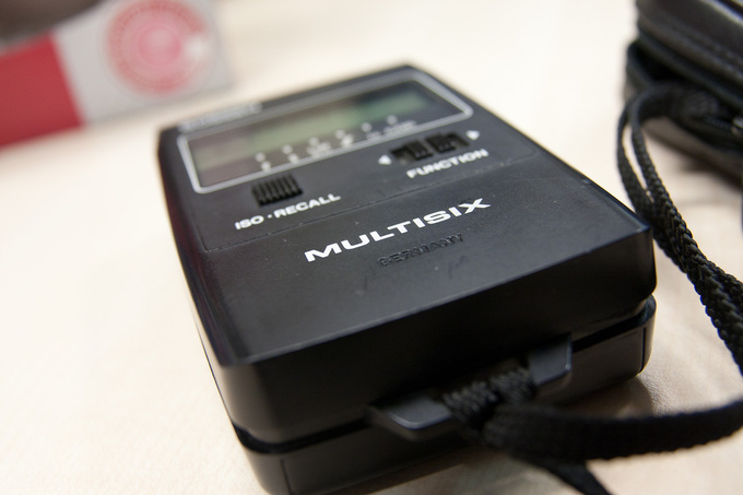 Important tool: light meter
