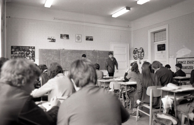 My classroom in 1985. It was the best place to dream of your own car