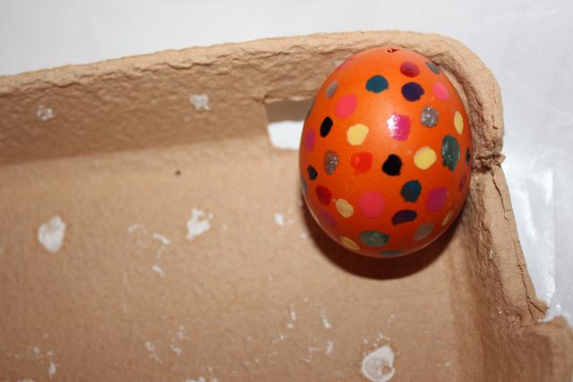 Kész a körömlakkos tojás.