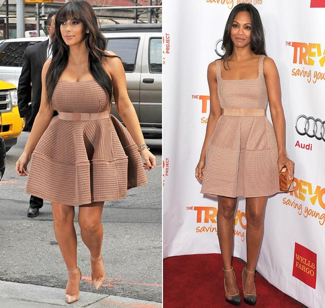 Kim Kardashian vs. Zoe Saldana