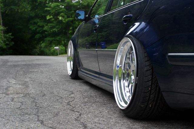 Offsett Golf Car Wheel