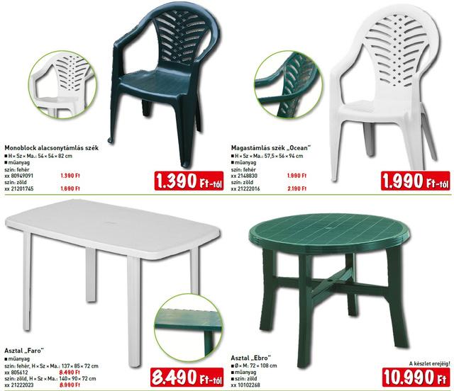 akcios müanyag kerti asztal székkel