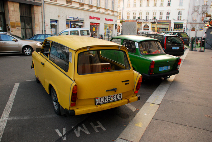 """Hey, yellow buddy, did the British diplomat drive you too?"""