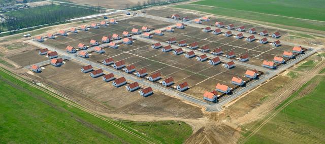 Így néz ki az ócsai lakópark a levegőből