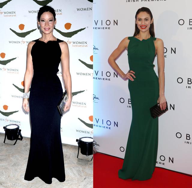 Lucy Liu és Olga Kurylenko eltérő karakterek, emiatt sem meglepő, hogy más színben választottak ruhát egy eseményre.