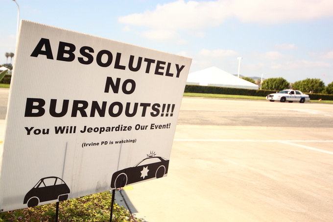 No burnouts! And no craving for Charlize Theron either. Like that's so easy!
