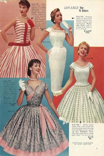 Lobell  vidám mintáival, sikkes, de praktikus vonalvezetésű ruháival azonnal belopta magát az amerikai nők szívébe.