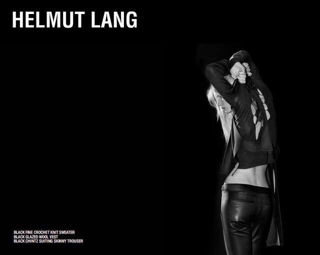 Helmut Lang nem először alkalmazta a sejtelmes reklám trükköt