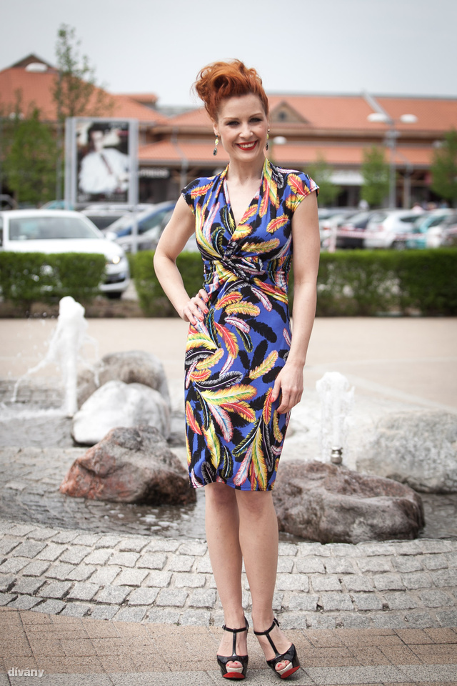 Orosz Barbara a Premier outlet Adok-Kapok Napok nyitóeseményének volt a háziasszonya.