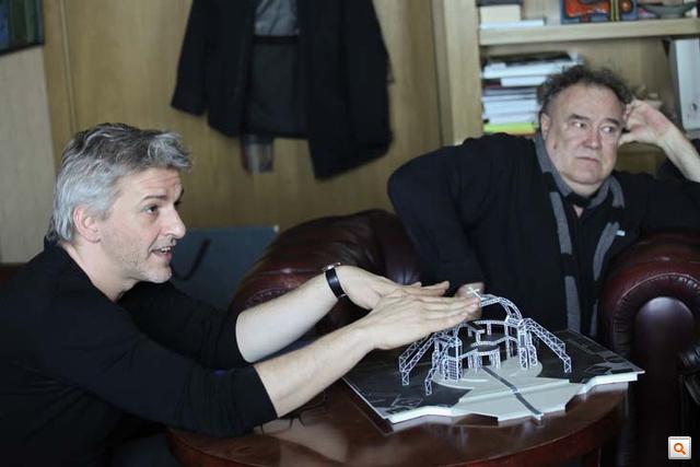 Alföldi Róbert, rendező és Menczel Róbert, díszlettervező