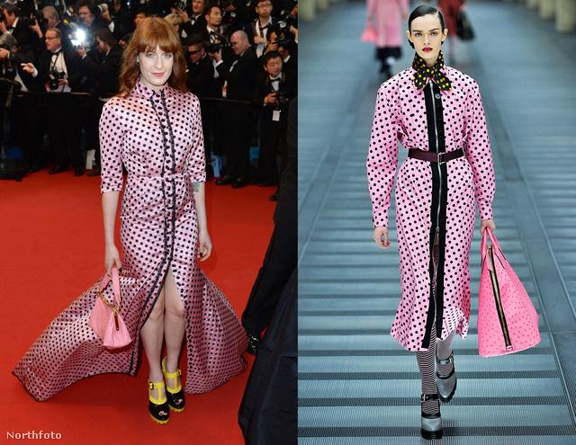 Florence Welch és a manöken szettje között láttuk a legnagyobb különbséget.