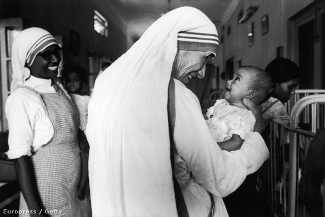 Teréz anya 1981-ben Kalkuttában