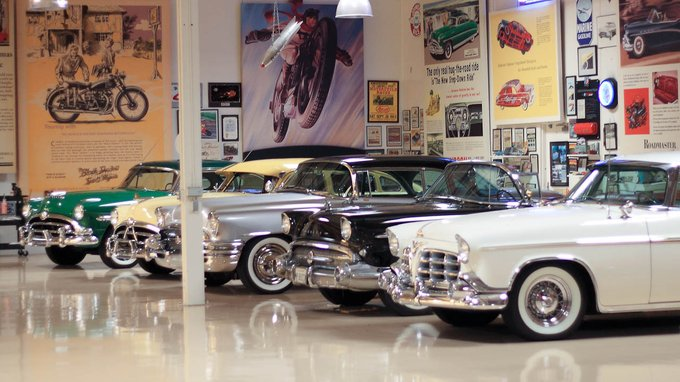 Two Hudson Hornets, two Buick Roadmasters and a Chrysler Imperial
